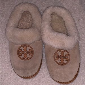 Tory Burch shearling house slippers